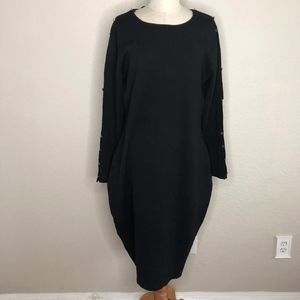 City Chic Black Sweater Dress S16